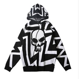 $enCountryForm.capitalKeyWord Australia - New 19ss Men High Striped Classic Skull Gentleman Hoodies Hoody Hooded Sweatshirts Velvet Cotton Drake Thicken Fleece #e211
