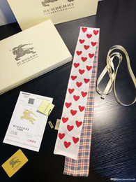 $enCountryForm.capitalKeyWord Australia - Flower Print Hand Bag Scarves Women Imitated Silk Hair Scarf kerchief Neckerchief Flower Print Stripe Handle Bag Ribbon Long Scarves & Wraps