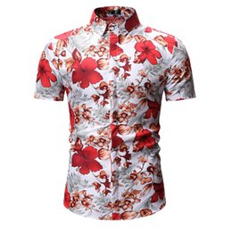 $enCountryForm.capitalKeyWord Australia - Mens Hawaiian Shirt Male Casual camisa masculina Printed Beach Shirts Short Sleeve Summer men clothes 2019 European Size M-XXXL