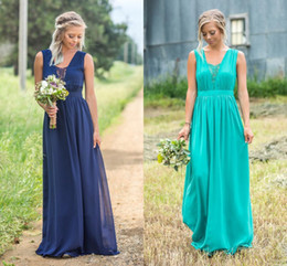 wedding colors silver coral 2019 - Many Colors Chiffon V Neck Bridesmiad Dresses Sleeveless Maid Of Honor Wedding Guests Gowns Plus Size Cheap Robes De dem