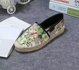 euro fashion shoes 2019 - 2019s women fashion Floral Canvas Slip-on Espadrilles causal shoes 20mm Rope and rubber sole size euro 35-41 s4 cheap eu