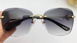 Diamond Uv Australia - New fashion women sunglasses 1850 Cutting lens charming cat eye frameless diamond avant-garde design style top quality uv protection