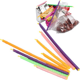 Food storage bag sealing clips online shopping - Kitchen Storage Bag Clip Plastic Seal Stick Storage Bar Bag Househoud Sealer Clamp Snack Fresh Food Rod Strip Kitchen Tool MMA1803
