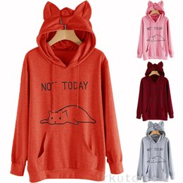 $enCountryForm.capitalKeyWord Australia - New Style Women's Hoodies Cat Ear Hoodie Ladies Hooded Jumper Pullover Tops With Pocket With Hat Autumn Winter Fashion Hot 2019