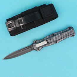 shipping automatic knives NZ - BM 3300 Carbon fibre BENCHMADE HK knife outdoors Camping Fishing Hiking Tactical Combat Hunting Automatic knives 1pcs free shipping