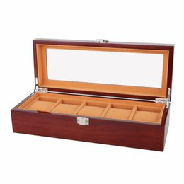 $enCountryForm.capitalKeyWord UK - New Fashion Wooden Watch Box 5 Grids Solid Wood Watch Case Environmental Watch Jewelry Display Storage Gift Boxes Watches Casket