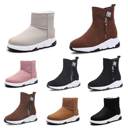 styles winter boot Canada - Discount Non-Brand winter women boots Triple Black Red Beige Brown Suede snow ankle boots Keep Warm 35-40 Style 14
