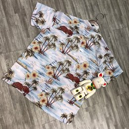coconut tree t shirt UK - Fashion-Coconut Tree Printing Shirt Summer Beach Men Women T Shirt Fashion Casual Street Holiday Hawaii Outwear Jacket HFLSCS040