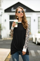 leopard print t shirt women s Australia - Hot Sale Women T Shirt Fashion Leopard Print Patchwork T-shirt Casual Long Sleeve Women Tops Tees Plus Size S-XXL MDL5