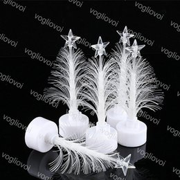 $enCountryForm.capitalKeyWord Australia - Christmas Tree Home Table Party Decor Charm Small Night Light LED Fiber Optic Christmas Trees Colorful Christmas Decoration EPACKET