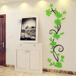 $enCountryForm.capitalKeyWord Australia - Beautiful Acrylic Rose Flower 3D Wall Stickers Home Decor House Room Party Decoration DIY Art 24*80CM New