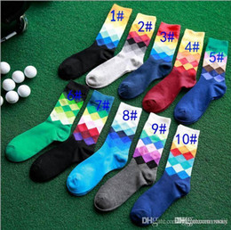 Football Dress Men Australia - Fashion Socks Men Women Casual Dress cotton Stocking Gradient Colour Hosiery football basket ball sports socks
