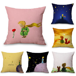 Travels Pillows Australia - Little Le Petit Prince Neck Body Pillowcase Linen Bed Travel Pillows Cover Couch Seat Cushion Throw Pillow Home Decoration Gift