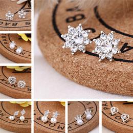 $enCountryForm.capitalKeyWord NZ - Clearance Sale Silver Combination Zircon Inlaid Drop Dangle Earrings Shiny Animal Plants Gift from Girlfriend