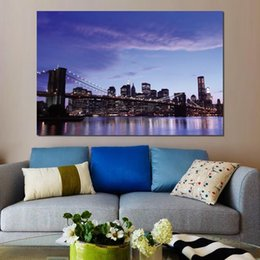 $enCountryForm.capitalKeyWord Australia - canvas Prints Home Decor Art Painting brooklyn bridge evening lights Unframed