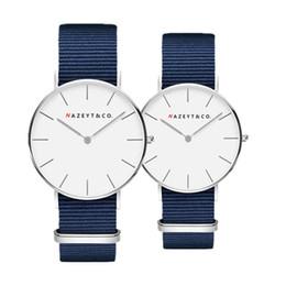 $enCountryForm.capitalKeyWord NZ - Fashionable men and women contracted digital dial quartz watch student trend nylon wrist expression companion watch