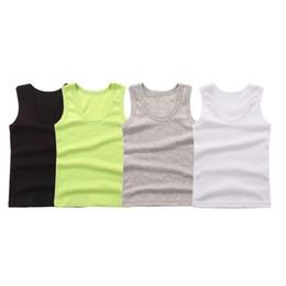 $enCountryForm.capitalKeyWord Australia - Cotton T-shirt For Girls Summer Girls Clothes T-shirt Sleeveless Solid Color Tops kids vest baby t shirt