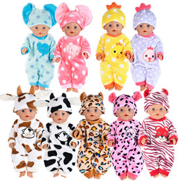 jumpsuit babies Australia - Animal jumpsuits Doll Clothes Fit For 43cm Baby Doll Clothes Accessories For Baby Birthday Gift