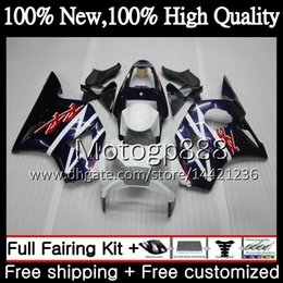 Cbr 954 Bodywork Australia - Blue white Body For HONDA CBR900RR CBR 954 RR CBR900 RR CBR954RR 02 03 41PG15 CBR954 RR CBR 900RR CBR 954RR 2002 2003 Fairing Bodywork