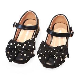 $enCountryForm.capitalKeyWord Australia - Bekamille kids Leather Shoes girls princess Autumn with heel dancing shoes polk Dot bow Little Girl size 26-30