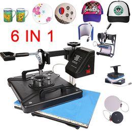 T Shirt Press Machines Australia - double display 30*38CM 6 in 1 Combo Heat Press Printer Sublimation Machine Heat Press Machine for T-shirts Plates Cap Mug Phone
