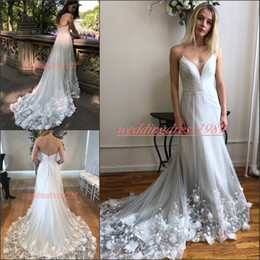 robe sizes chart NZ - Exquisite Rose Tulle Plus Size Wedding Dresses Straps Spaghetti Handmade Flower Edge A-Line robe de mariée Spring Bride Gowns Bridal Ball