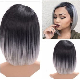bobo fashion 2019 - Factory price 1pc Women Fashion Lady Multicolor Short Straight Natural Looking Heat Bobo Wigs Stand Cosplay Fashion Jan9