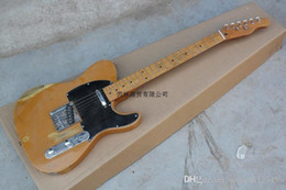 Hot frets online shopping - Top Quality F Nice Maple Neck Electric Guitar Black Pick Guard fret Hot Guitar In Stock