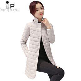 Wholesale thin overcoat resale online – Long Jacket Black Women Coat Autumn New Thin Women s Down Jacket Overcoat Korean Slim Fashion Ladies Winter Coats Parka XL