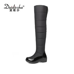 $enCountryForm.capitalKeyWord Australia - Daidiesha Nice Winter russia Keep Warm Women Snow Boots Thick Fur Fashion Platform Down Winter Over The Knee Boots