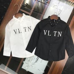 $enCountryForm.capitalKeyWord Australia - Kids Designer Clotheskids Clothes Boys And Girls Shirts Top Quality Rivet Shirts Fashion Minimalist Style Shirts Fall Clothes