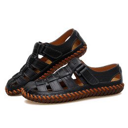$enCountryForm.capitalKeyWord Canada - Male Genuine Leather Shoes Men's Summer Sandals Fashion Adult Outdoor Footwear Man Casual Leisure Sandalias Hombres Plus Size 13