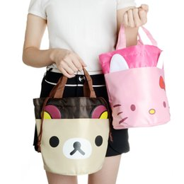 Ivyye 1pcs Rilakkuma Cat Fashion Portable Oxford Lunch Bags Cartoon Picnic Bag Food Box Tote Storage For Women Girls Kids Luggage & Bags