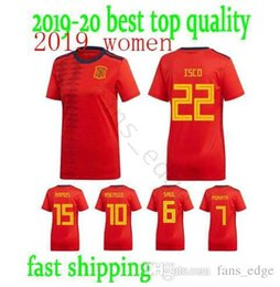 $enCountryForm.capitalKeyWord Australia - 2019 Spain Woman World Cup Soccer Jersey 19 20 A.INIESTA Morata girl SAUL RAMOS DIEGO COSTA ASENSIO ISCO Home Female Football shirt