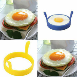 $enCountryForm.capitalKeyWord NZ - Edible Silicone Round Egg Rings Pancake Mold Ring Double Handles Nonstick Frying Shape
