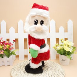 dance christmas ornament NZ - Electric Christmas Santa Claus Toy Shake Hips Dancing Music Gift for Children Kids PAK55
