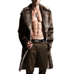 $enCountryForm.capitalKeyWord Australia - Plus Size Long Faux Fur Trench Coat Men Leather Overcoat Winter Faux Fur Jacket Mens Punk Fluffy Parka Jackets Male Coat