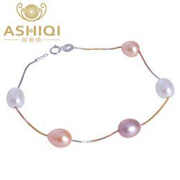 $enCountryForm.capitalKeyWord Australia - Ashiqi Genuine 925 Sterling Silver Bracelet For Women Natural Freshwater Pearl Jewelry Gift J190628
