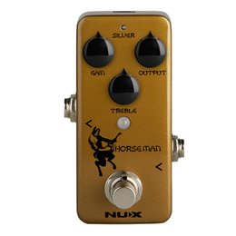Chinese  NUX Horseman Overdrive Pedal Electric Guitar Effect Pedal True Buffer Bypass Natural Distortion Effects Musical Instruments Kits manufacturers
