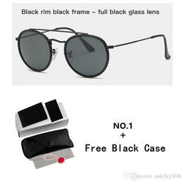 $enCountryForm.capitalKeyWord UK - Occhiali Da Sole Round Metal Sunglasses Double Bridge Glass Lenses Sun Glasses With Free Case And Box