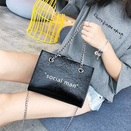 $enCountryForm.capitalKeyWord Australia - Exotic2019 Bag Paillette Woman Tide Letter Hand Bill Of Lading Shoulder All-match Cable Satchel Will Capacity Small Square Package