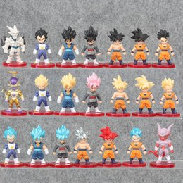 Figures Australia - Dragon Ball 21pcs set Goku Mini Action Figure 1 12 scale painted figure Vegeta Rose Black Goku Gold Frieza Gohan PVC figure Toys Y190529