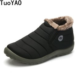 $enCountryForm.capitalKeyWord Australia - Hot Sale Autumn Winter Casual Snow Boots Men Waterproof Ankle Boots Flat Slip-resistant Fashion Man Winter Shoes Big Size 48 MX190819