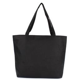 352d4798a Fashion Blank Women's Casual Tote High Quality Canvas Shoulder Bag Plain  White Black Handbag Shopping Bag Can Be