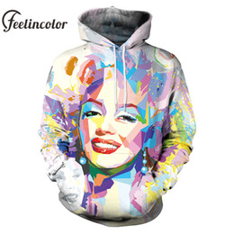 ac4d79a30902 marilyn monroe hoodie 2019 - Feelincolor 2019 3D Hoodies Men Women Marilyn  Monroe Printed Canvas Art