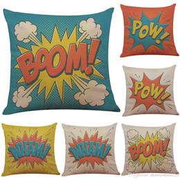 $enCountryForm.capitalKeyWord Australia - 2018 New Novelty Pop Art Printed Linen Cushion Cover Home Office Sofa Square Pillow Case Decorative Cushion Covers Pillowcases(18*18inch)