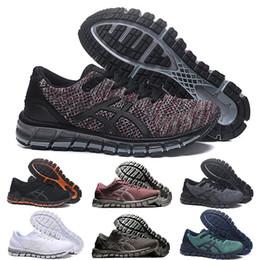 $enCountryForm.capitalKeyWord UK - Wholesale Brand GEL-QUANTUM 360 KNIT 2 Running Shoes for men Triple Black White Metal Bronze Silver Ocher SHIFT Breathable Jogging Shoes