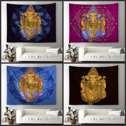 07191d13db4f2 Buddha Statue Beach Towel Square Digital Printing Tapestries Purple Blue  Living Room Bedroom Foldable Fashion Bardian Wall Hanging 27ycD1