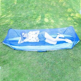 camping swing Canada - 1-2 Portable Person Camping Outdoor Hammock With Mosquito Net Swing Sleeping