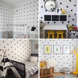 $enCountryForm.capitalKeyWord Australia - Baby Boy Room Little Triangles 4*4cm (42 dots)Wall Sticker For Kids Room Decorative Stickers Children Bedroom Nursery Wall Decal Stickers